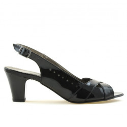 Women sandals 1204 patent black