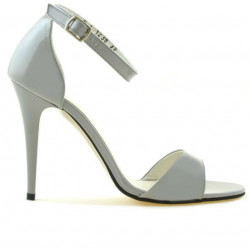 Sandale dama 1238 lac gri deschis
