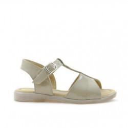 Small children sandals 40c patent beige