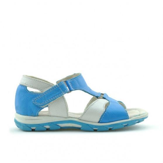 Sandale copii mici 09c turcoaz+alb