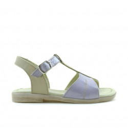 Sandale copii mici 40c lac mov+bej