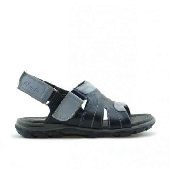 Sandale copii mici 41c indigo+gri
