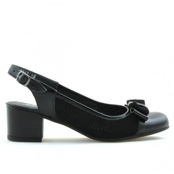 Sandale dama 5013 lac negru combinat