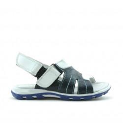 Sandale copii mici 41c indigo+alb