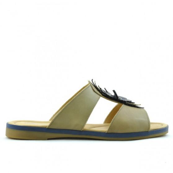 Women sandals 5008 brown+indigo