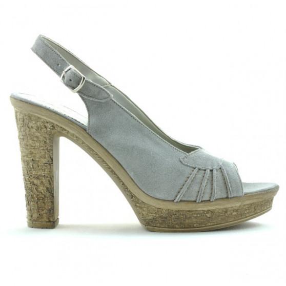 Sandale dama 597 gri deschis velur
