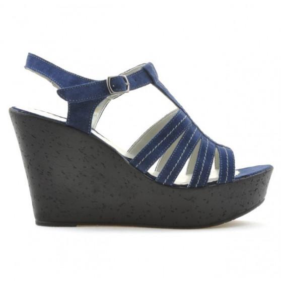 Sandale dama 598 indigo velur
