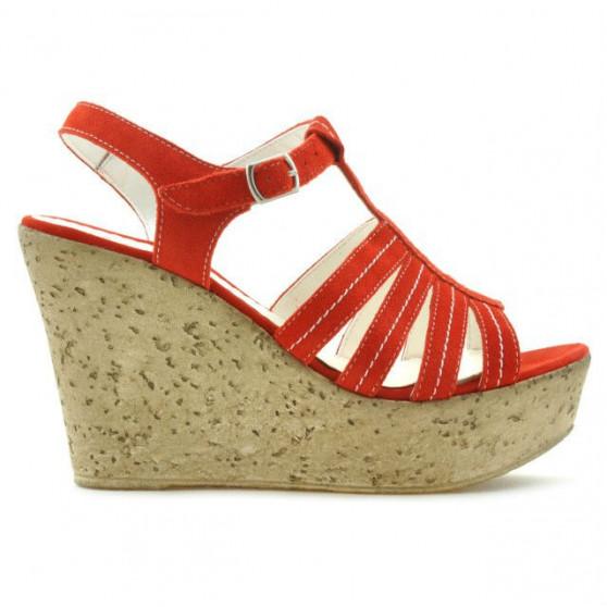 Sandale dama 598 rosu corai velur