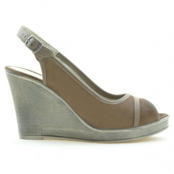 Sandale dama 5000 capucino velur