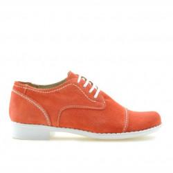 Pantofi copii 131 rosu corai velur