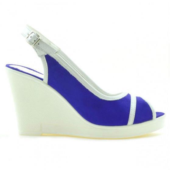 Sandale dama 5000 indigo velur+alb