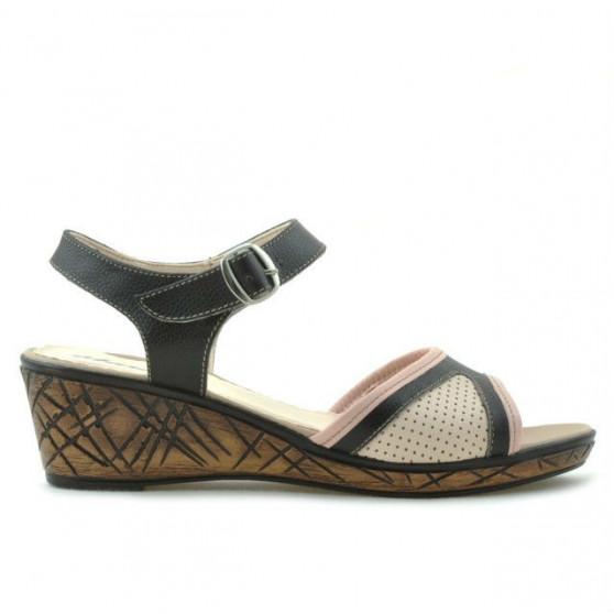 Sandale dama 5005p cafe+roz perforat