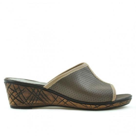 Sandale dama 5004p capucino perforat
