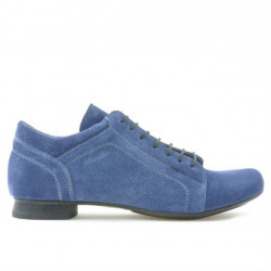 Women casual shoes 645 indigo velour