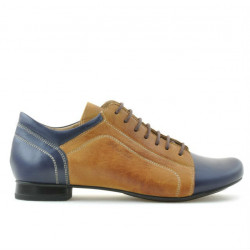 Women casual shoes 645 indigo+brown
