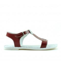 Children sandals 534 patent red
