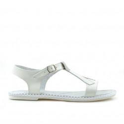 Children sandals 534 patent beige