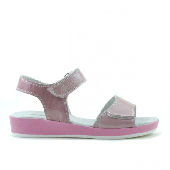 Children sandals 532 patent pink