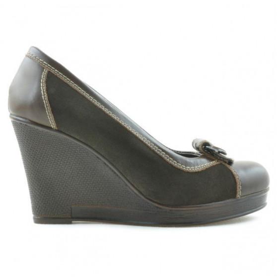 Pantofi casual dama 178 cafe combinat
