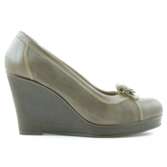 Pantofi casual dama 178 capucino combinat