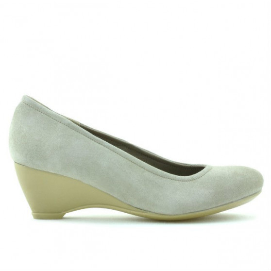 Pantofi casual dama 152-1 nisip velur