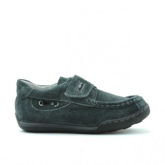 Pantofi copii mici 01c gri velur
