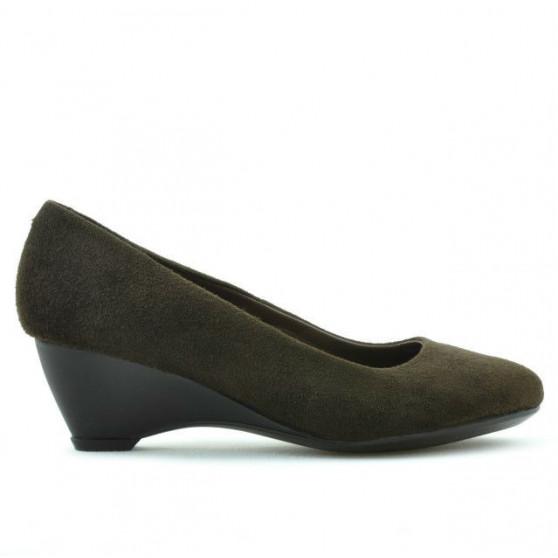 Pantofi casual dama 152-1 cafe velur