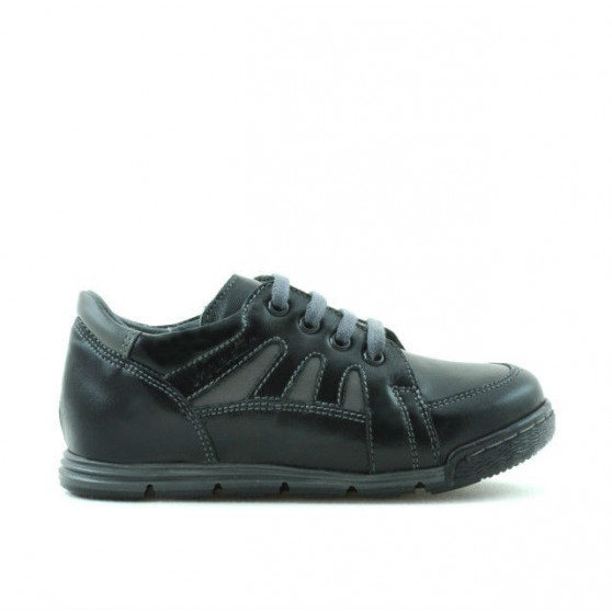 Pantofi copii mici 04c negru+gri