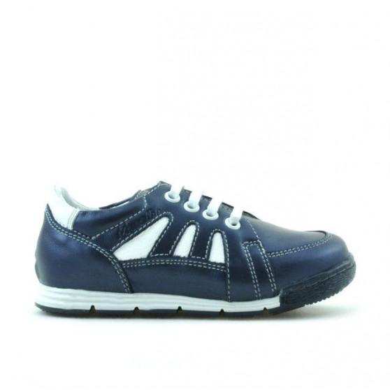 Pantofi copii mici 04c indigo+alb