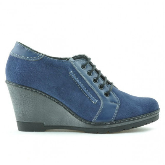 Pantofi casual dama 625 indigo velur combinat