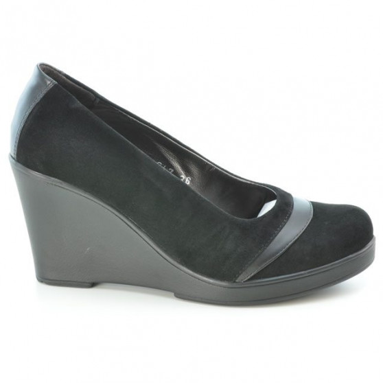 Pantofi casual dama 647 negru velur
