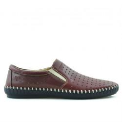 Men loafers, moccasins 820 bordo
