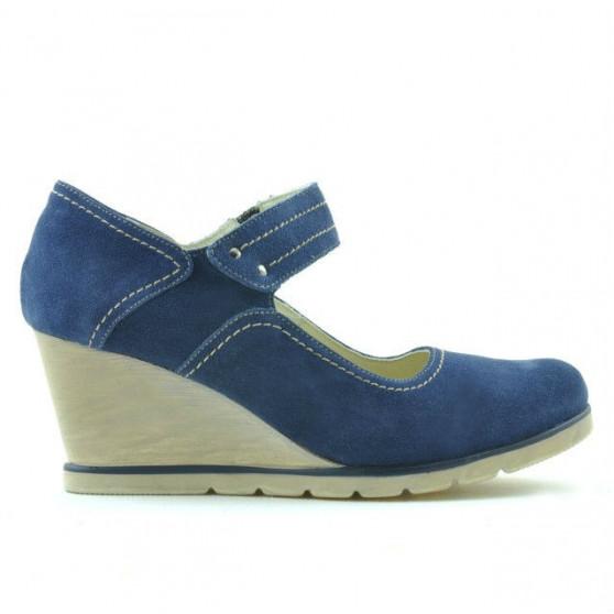 Pantofi casual dama 199 indigo velur