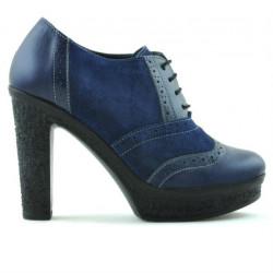 Pantofi casual dama 637 indigo combinat