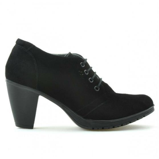 Pantofi casual dama 167 negru velur