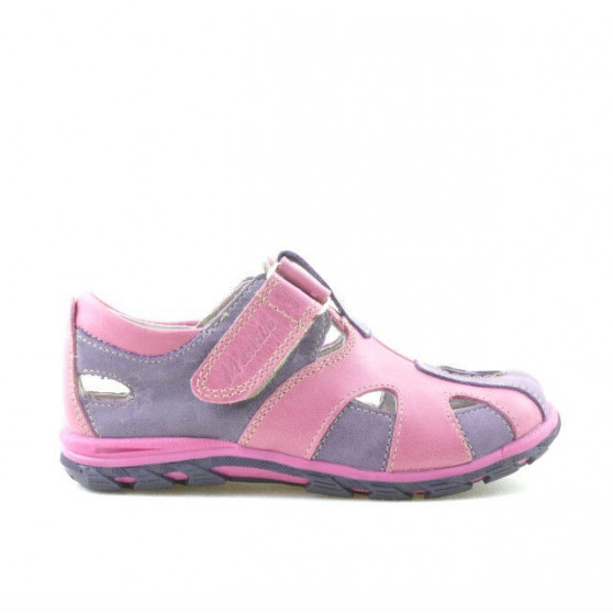 Pantofi copii mici 07c mov+roz
