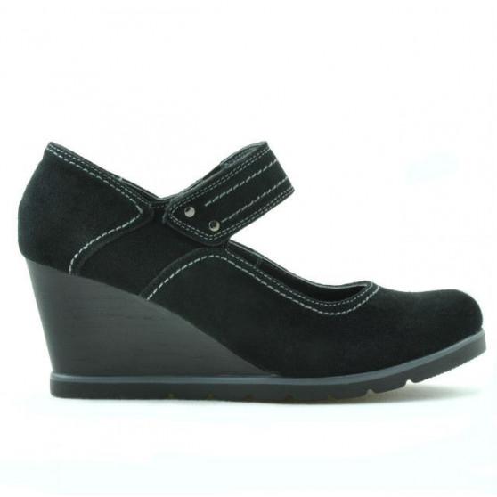 Pantofi casual dama 199 negru velur