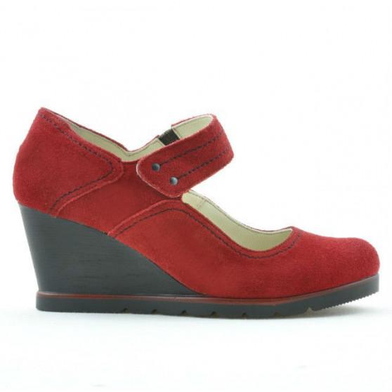 Pantofi casual dama 199 rosu velur