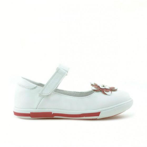 Pantofi copii mici 06c alb+rosu
