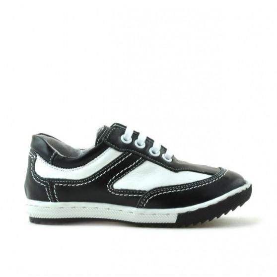 Pantofi copii mici 15c negru+alb