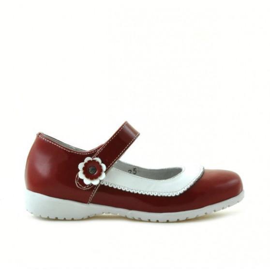 Pantofi copii mici 19c lac rosu+alb
