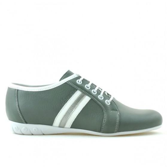 Pantofi sport dama 187 gri+alb