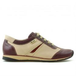 Women sport shoes 196 bordo+beige