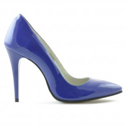 Pantofi eleganti dama 1241 lac albastru