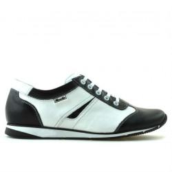 Pantofi sport dama 196 negru+alb