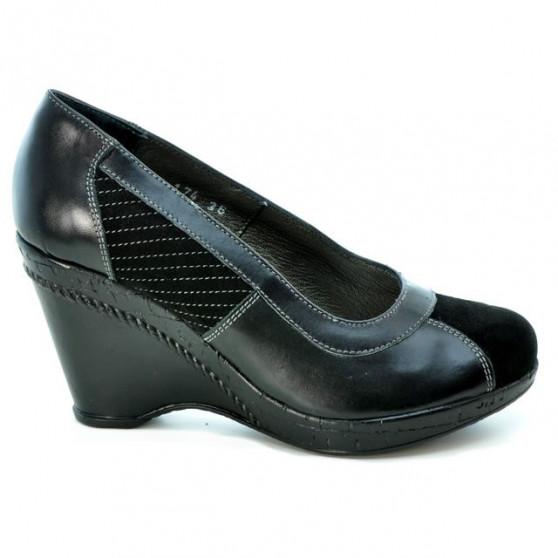 Pantofi casual dama 174 negru combinat