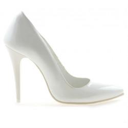 Pantofi eleganti dama 1241 lac alb