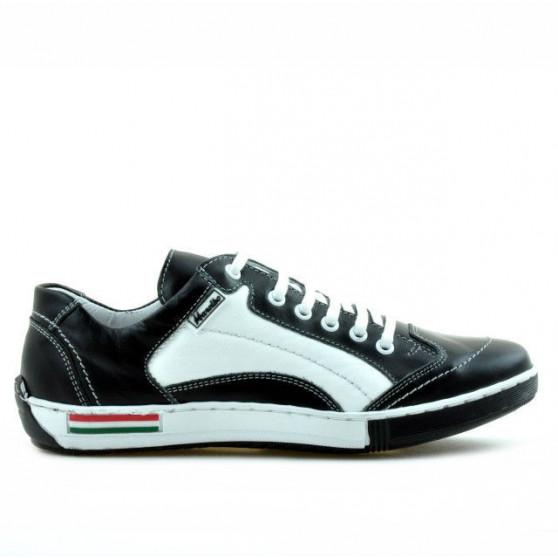 Pantofi sport adolescenti 307 negru+alb