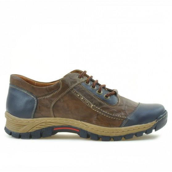 Teenagers stylish, elegant shoes 313 indigo+brown