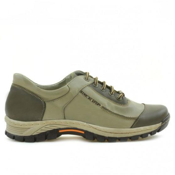 Teenagers stylish, elegant shoes 313 kaki+beige